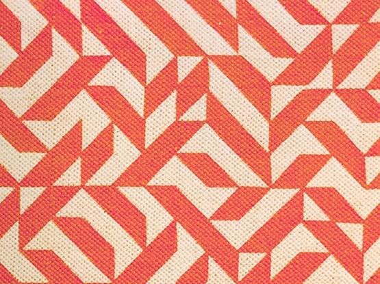 Muster Orange Beige