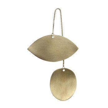 ferm LIVING - ferm LIVING Twin Eye Brass Ornament 24221 - messing/BxH 6.5x11.5cm