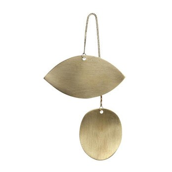 ferm LIVING - ferm LIVING Twin Eye Brass Ornament 24221 - messing/BxH 6.5x11.5cm
