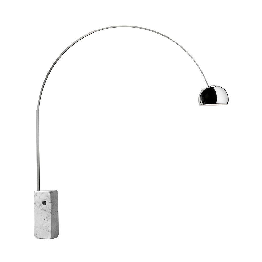 Flos - Arco Floor Lamp - aluminium/brushed ...