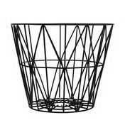 ferm LIVING - Wire - Corbeille/panier  - noir/50x40cm