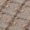 GAN - Garden Layers Small Checks Kissen - terrakotta/Handwebstuhl/LxB 45x45cm