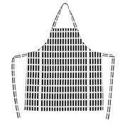 Artek - Siena Küchenschürze - weiß/schwarz/78x85cm