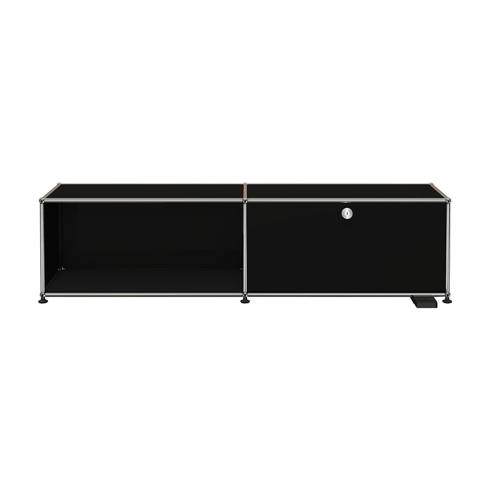 USM Haller   USM Haller E TV/Hi Fi Furniture With Light   Graphite