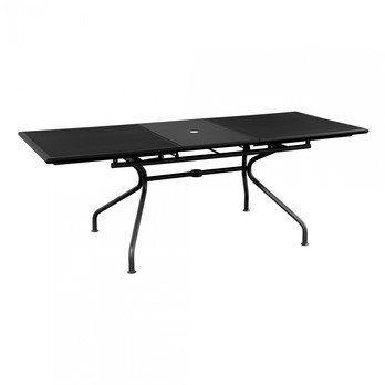 emu - Athena Gartentisch ausziehbar 160x90cm - schwarz/pulverbeschichtet/LxBxH 160+50x90x75cm