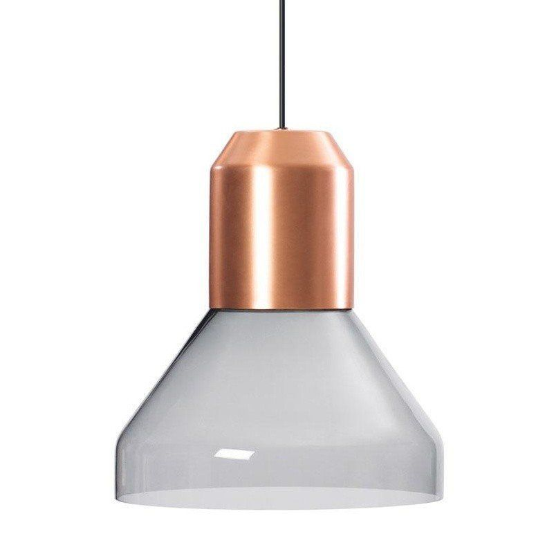 ClassiCon   Bell Light Suspension Lamp   Grey/crystal Glass ...