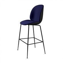 Gubi - Beetle Bar Chair With Fabric and Black Base