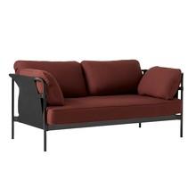 HAY - Can 2.0 2-Sitzer Sofa Gestell Stahl schwarz
