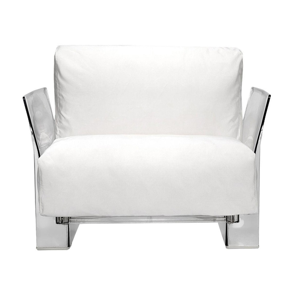 Kartell - Pop Outdoor Chair - white/fabric ...