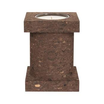 Tom Dixon - Cork Duftkerze L - braun/BxHxT 12x16x12cm