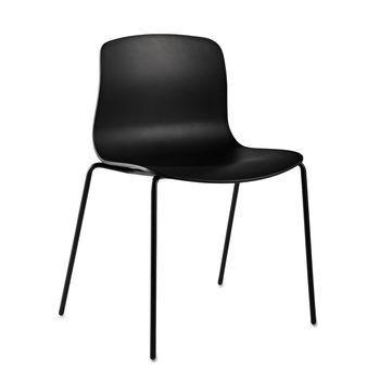 HAY - About a Chair 16 Stuhl - schwarz/Gestell Stahl schwarz/mit Kunststoffgleitern