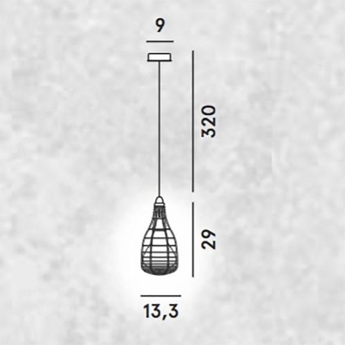 Diesel - Cage Mic Pendelleuchte - Strichzeichnung