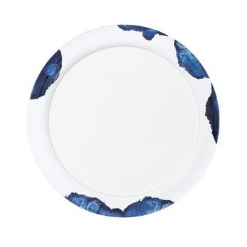 Stelton - Stockholm Servierplatte - blau/weiß/Ø 36cm, H 2,5cm