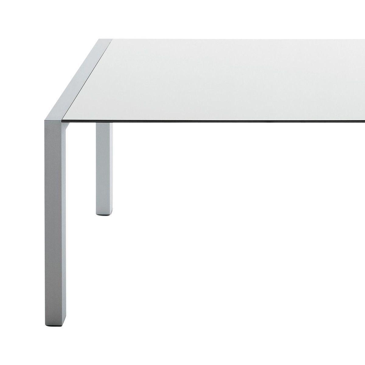 Kristalia   Sushi Tisch Ausziehbar   Weiß/Kante Schwarz/Laminat/Gestell  Aluminium/ ...