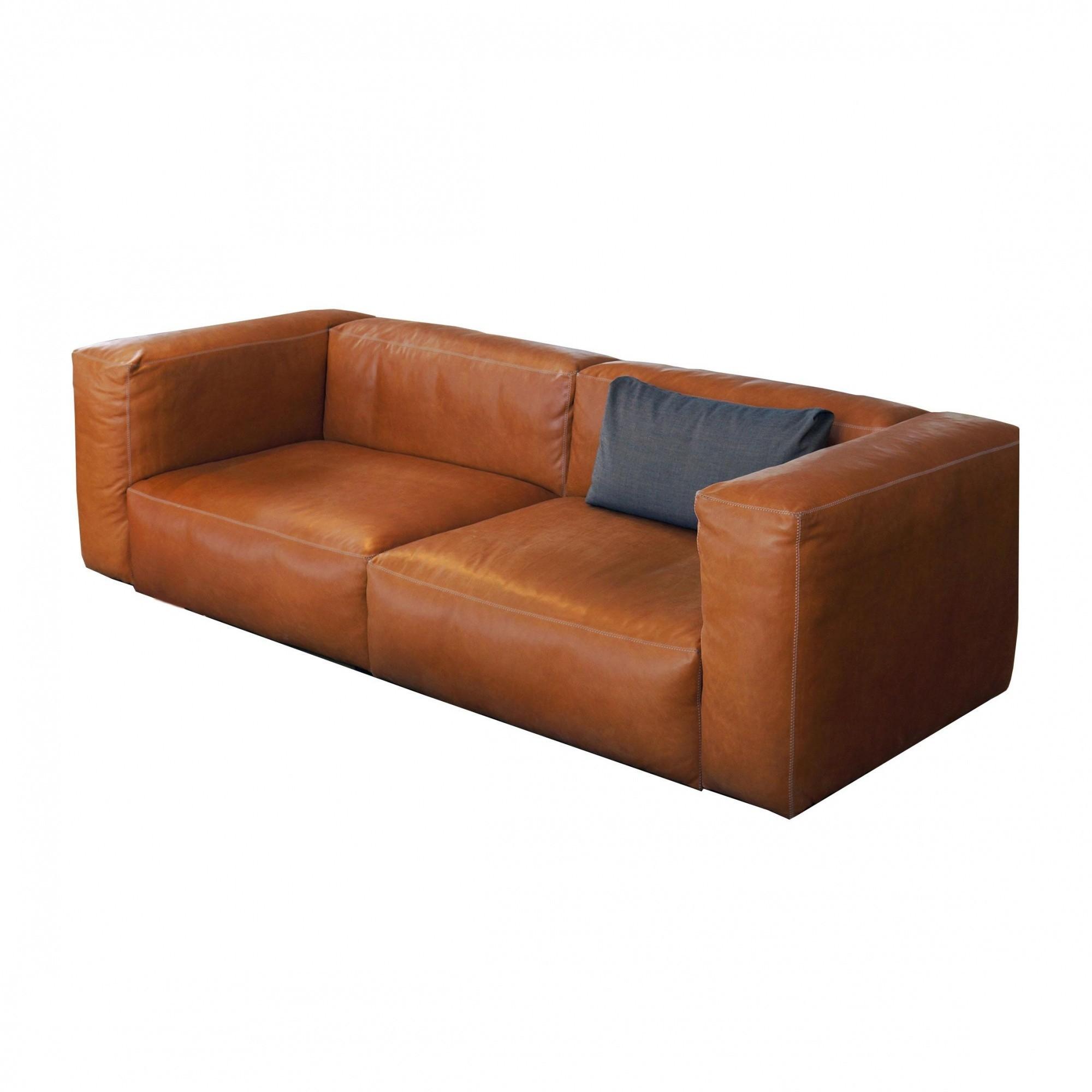 HAY   Mags Soft Leather Sofa 228x95.5cm   Cognac/sofa Legs ...