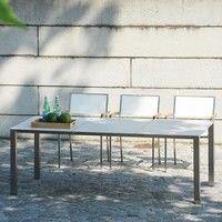 Jan Kurtz - Lux Base Gartentisch mit Keramikplatten