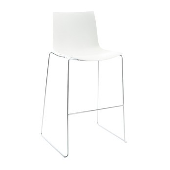 Amazing Catifa 46 0474 Bar Stool Low Unicolour Chrome Caraccident5 Cool Chair Designs And Ideas Caraccident5Info