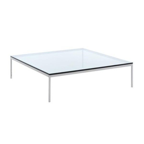 Florence Knoll Coffee Table Crystal Glass Knoll International