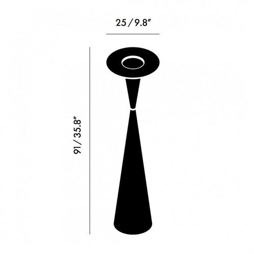 Tom Dixon - Stone Kerzenhalter H:91cm - Strichzeichnung