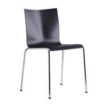 - Chairik 101 Stuhl - schwarz/Kunststoff/Gestell: 16 mm Rohr blankverchromt/50x54x75cm