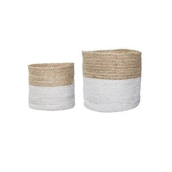 - Bloomingville Jute Korb 2er Set  -