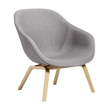 HAY - About a Lounge Chair AAL 83 Clear Lacquered Oak Base