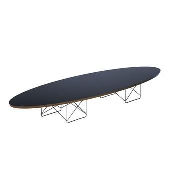 Vitra - LTR Elliptical Table Beistelltisch - schwarz/Eichenk./Gestell chrom