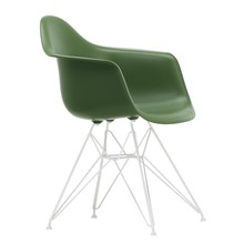Vitra - Chaise avec accoudoirs Eames Plastic DAR structure blanc