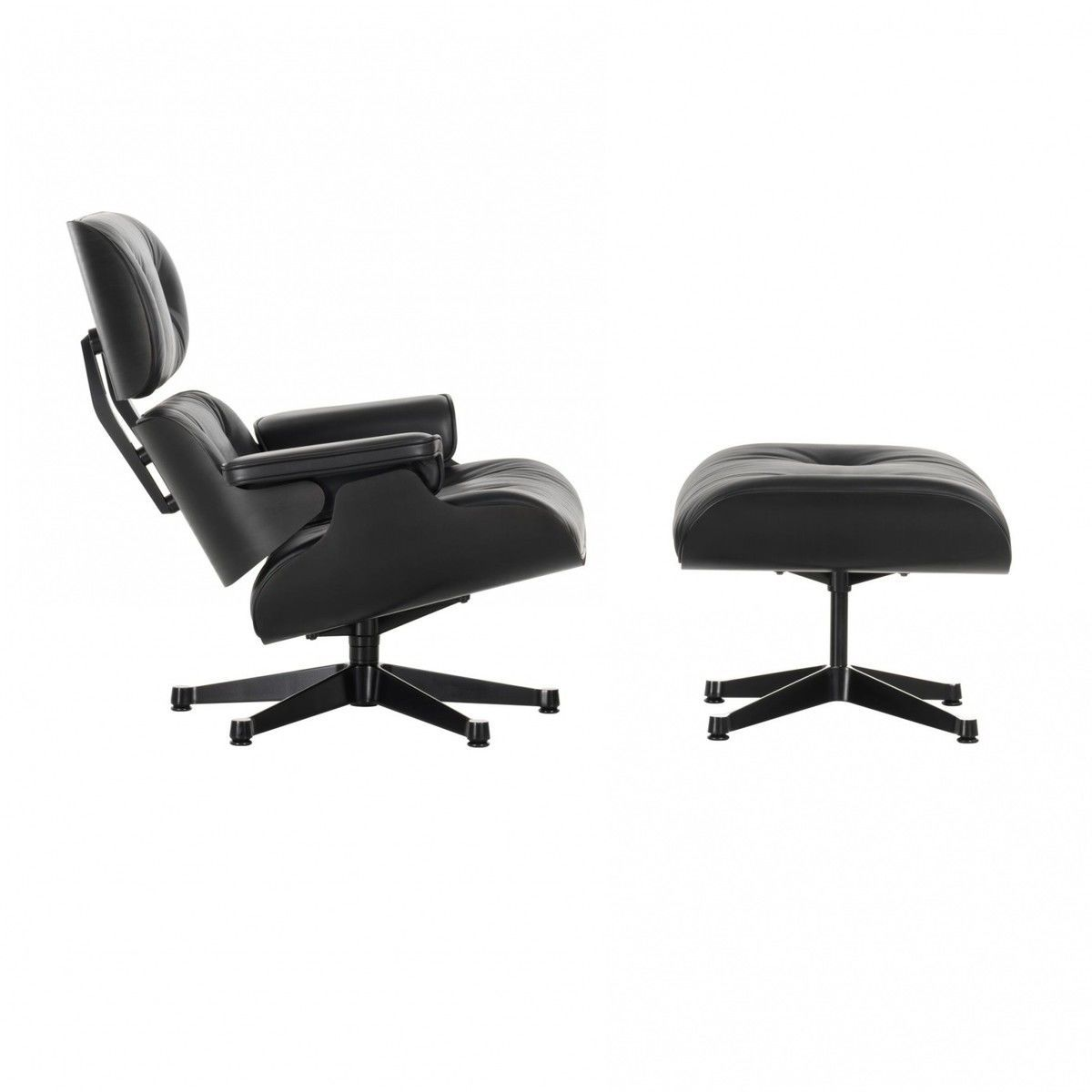Eames lounge chair nouvelle norme ottoman vitra for Pietement eames