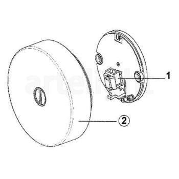 Flos - Mini Button Wand-/Deckenleuchte - Strichzeichnung