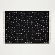 Vitra - Eames Wool Blanket - warm grey/black/100% merino/200x135cm/Jacquard weaving method