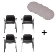 Magis - Troy Armlehnstuhl 4er Set mit Sitzauflagen