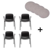 Magis - Troy - Kit de 4 chaises + coussins
