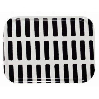 Artek - Artek Siena Tablett 27x20cm - weiß/schwarz