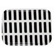 Artek - Siena Tablett 27x20cm - weiß/schwarz