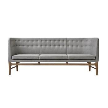 &tradition - Mayor AJ5  3-Sitzer Sofa 200x82x62cm - grau/Stoff Sunniva 2 242/Gestell geräuchterte Eiche geölt/200x82x62cm