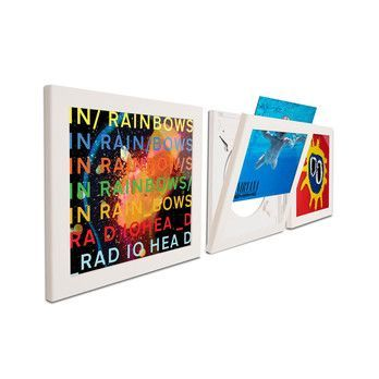 Art Vinyl - Play & Display Flip Rahmen 3er Set - weiß/38 x 38 x 2,5 cm