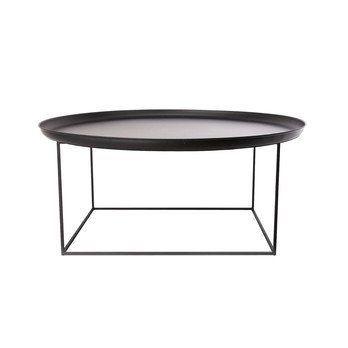 NORR 11 - Duke Large Beistelltisch/Couchtisch Ø 90cm - schwarz/Tischplatte abnehmbar/H: 43cm