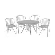 Fermob - Rendez-vous Flower Set 4 Armchairs+1 Table