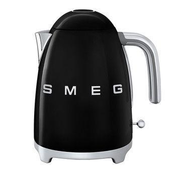 - SMEG KLF03 Wasserkocher 1,7l - schwarz/lackiert/BxHxT 22,3x24,8x17,1cm/integriertes Heizelement/Soft-Opening