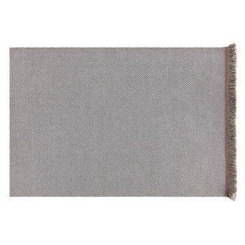 GAN - Garden Layers Diagonal Teppich 200x300cm - mandel-blau/Handwebstuhl