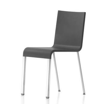 Vitra - .03 Stuhl nicht stapelbar - schwarz/Gestell verchromt