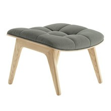 NORR 11 - Mammoth Ottoman Natural Oak Frame