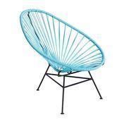 OK Design - Acapulco Mini Chair Armlehnstuhl - hellblau/Gestell schwarz