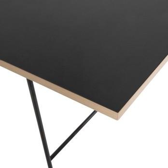 Richard Lampert - Eiermann Tischplatte - schwarz Linoleum/Eichenkante/180x90cm