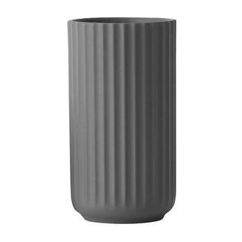 Lyngby Porcelæn - Lyngby Porzellan Vase H25cm - dunkelgrau/handgemachtes Porzellan/Ø14cm