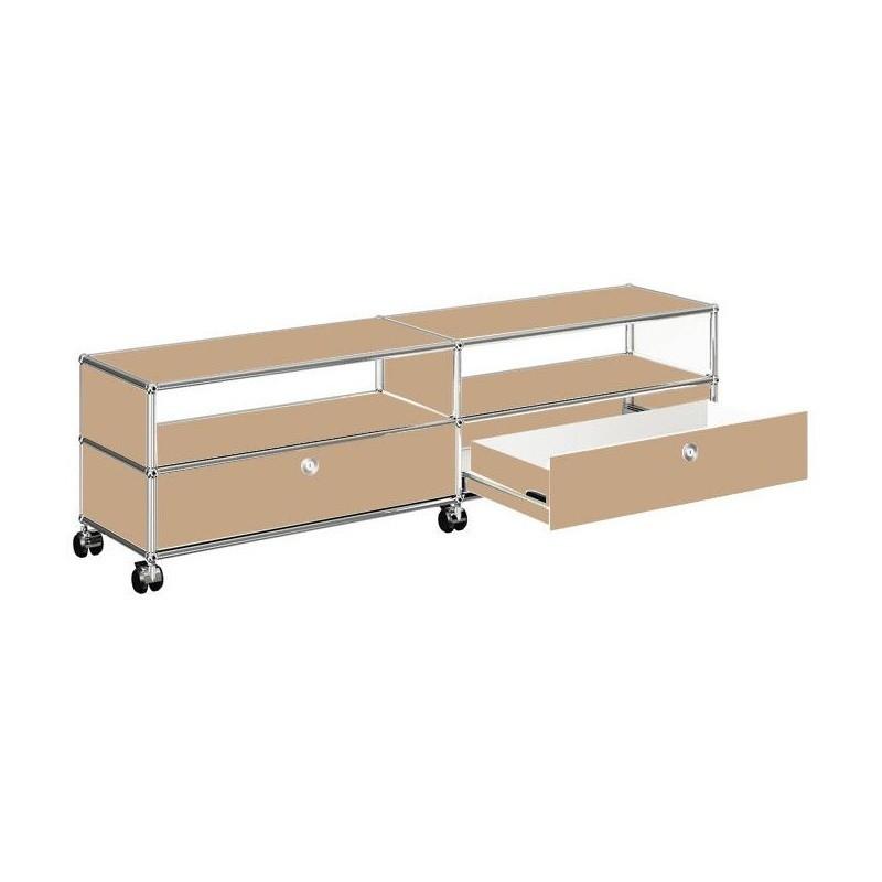 usm tv hi fi sideboard mit 2 schubladen unten ambientedirect. Black Bedroom Furniture Sets. Home Design Ideas