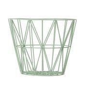 ferm LIVING - Wire Drahtkorb  - mintgrün/50x40cm