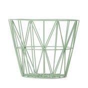 ferm LIVING - Wire Drahtkorb Large - mintgrün/Ø 60cm / H 45cm