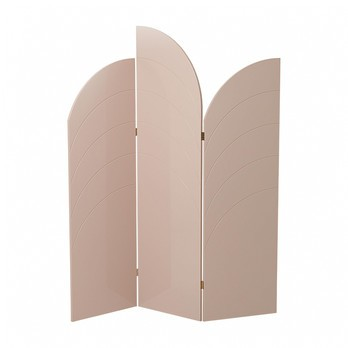 ferm LIVING - ferm LIVING Unfold Raumteiler 3324 - rosa/innere Wabenstruktur/150x180x1.8cm